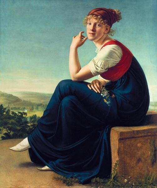 Христиан Готлиб Шик. Портрет Генриетты Даннекен