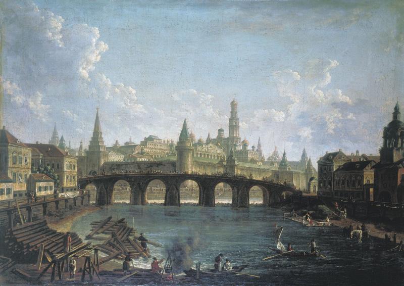 Федор Яковлевич Алексеев. Вид на Московский Кремль со стороны Каменного моста.