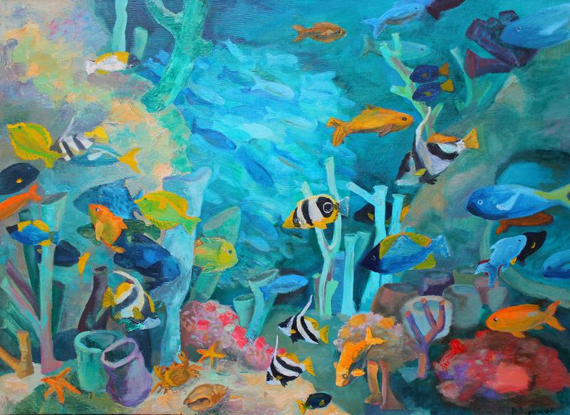 краски подводного мира картинки панели пвх имеют