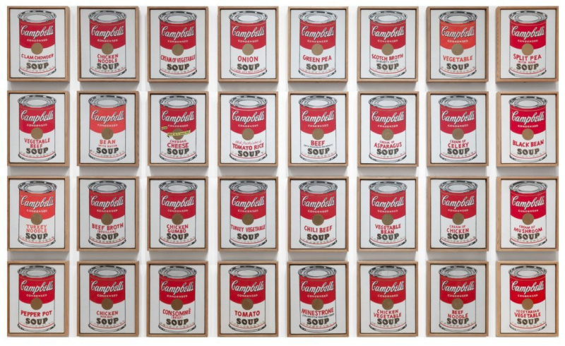 Andy Warhol. A can of soup, Campbells