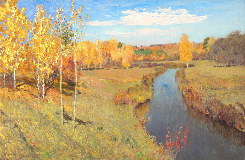 Isaac Levitan. Golden autumn