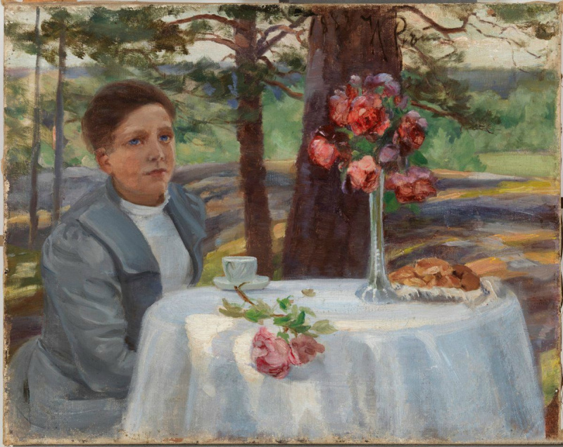 Илья Ефимович Репин. Девушка за столом