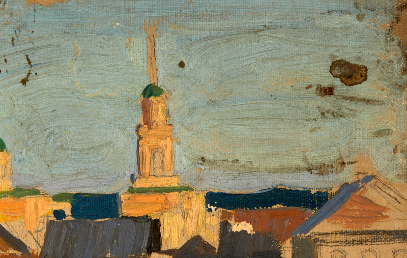 Pavel Dmitrievich Korin Russia 1892 - 1967. Old Moscow. Etude. Archive of the Rossinsky-Chichagov family