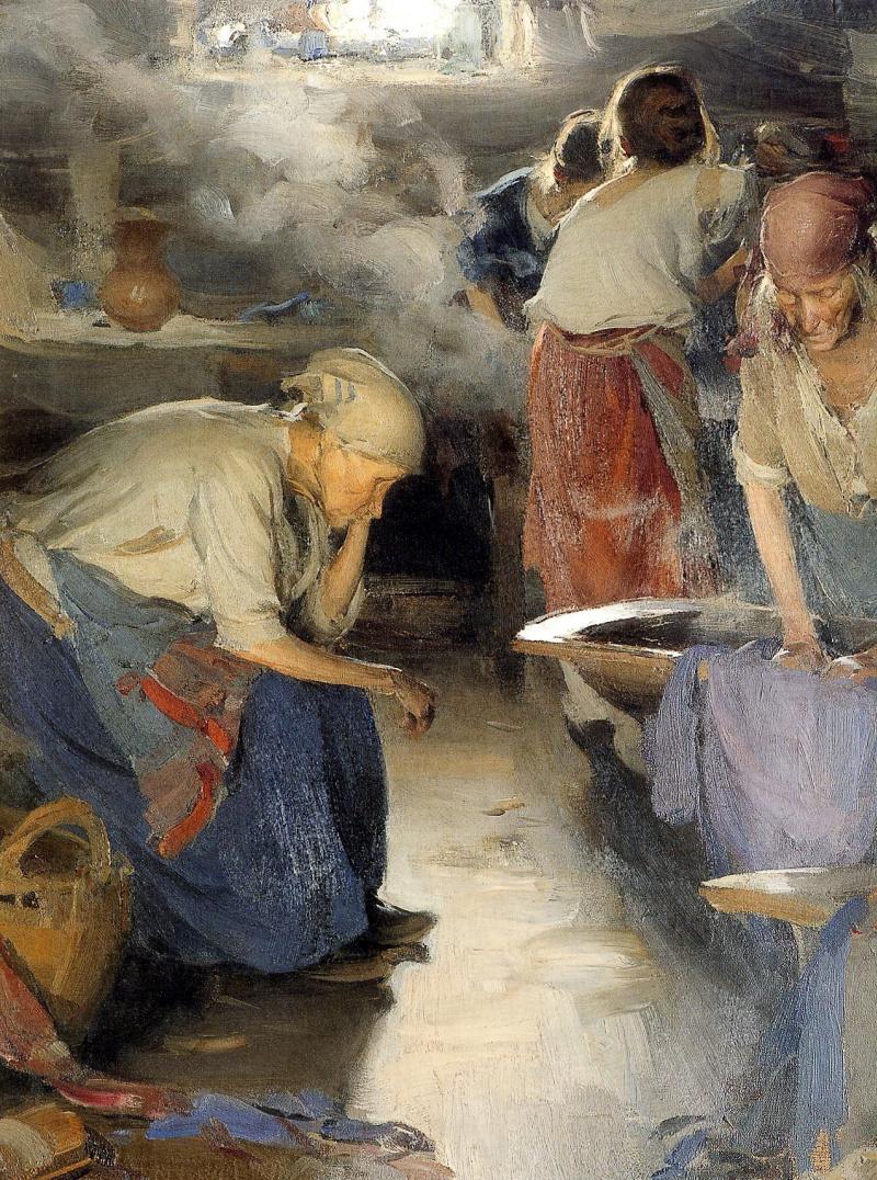 Abram Arkhipov. Laundress