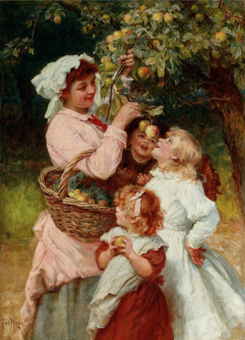 Frederick Morgan. In the garden