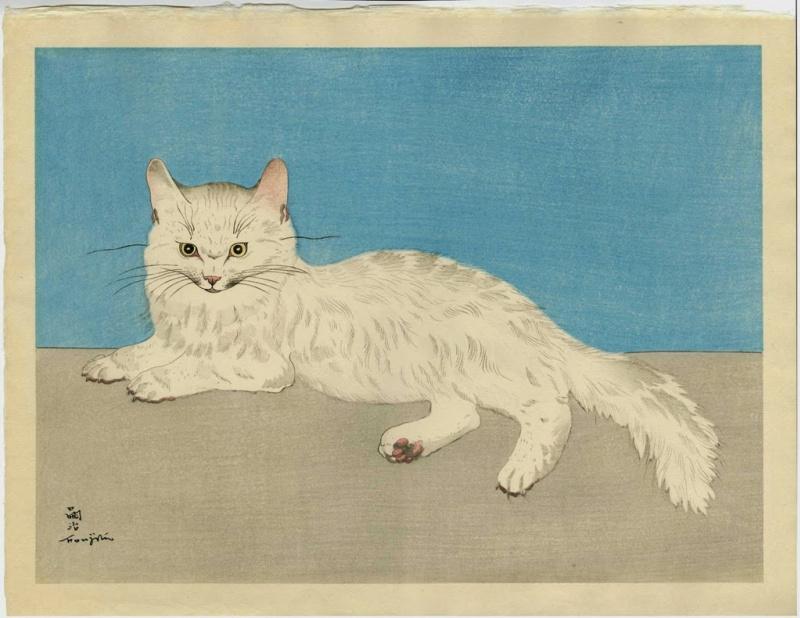 Цугухару Фудзита ( Леонар Фужита ). Кошка