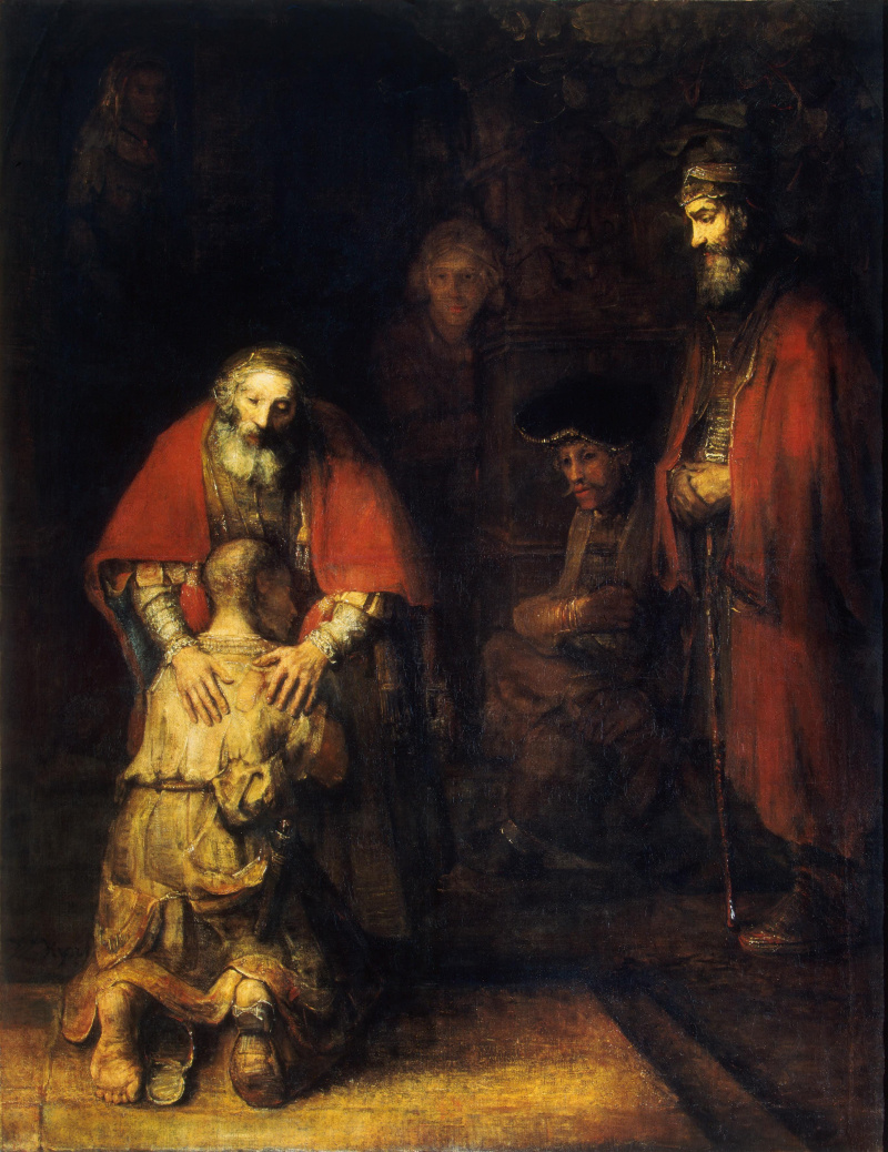 Rembrandt Harmenszoon van Rijn. The return of the prodigal son