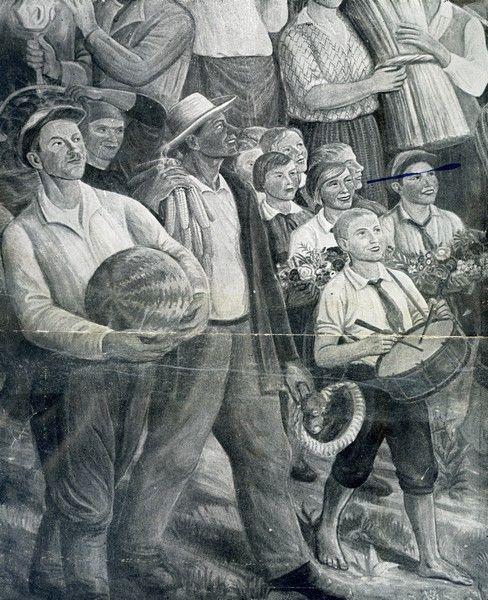 Михаил Львович Бойчук. Фргмент росписи в фойе Краснозаводского театра,Харьков