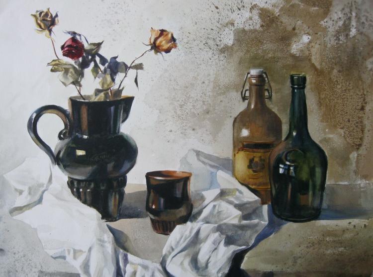 Александр Карпан. Натюрморт с черной вазой
