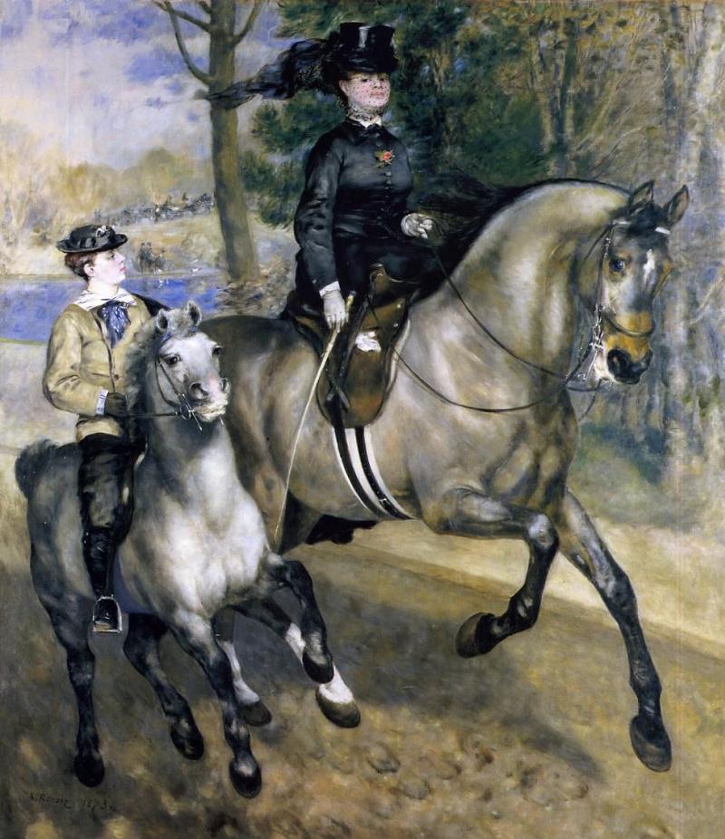 Pierre-Auguste Renoir. A walk in the Bois de Boulogne