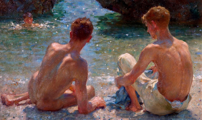 Henry Scott Tuke. Critics