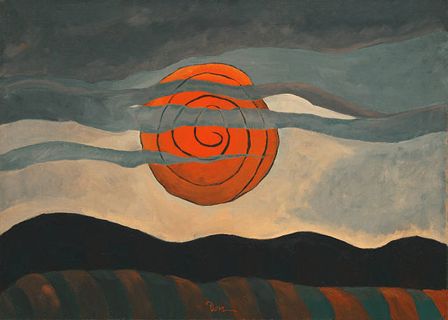 Arthur Dove. Red sun