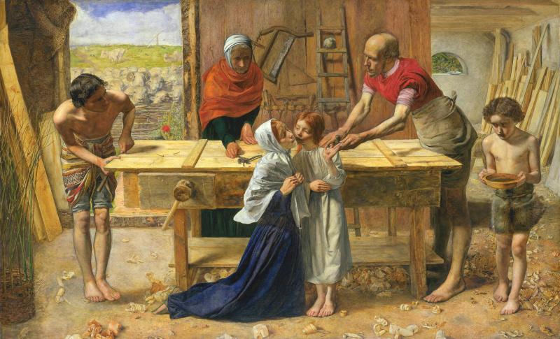 John Everett Millais. Christ in his parents' house
