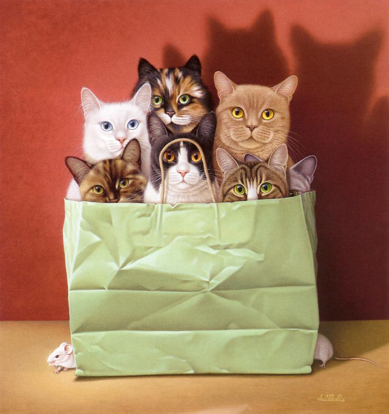 Подарки с изображением котов