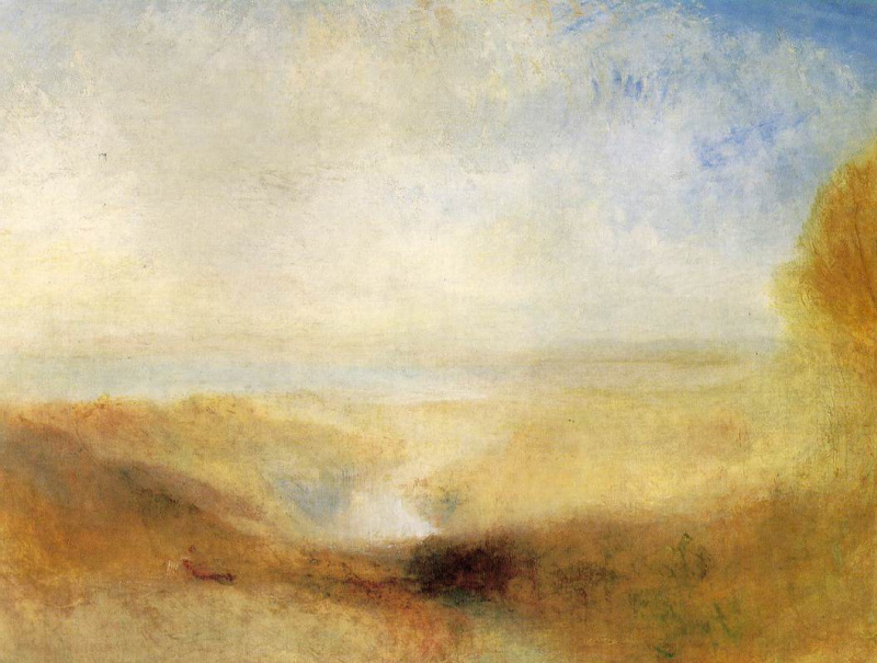 Джозеф Мэллорд Уильям Тёрнер. Пейзаж с рекой и заливом вдали