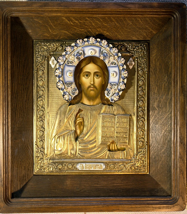 Igor Yurevich Drozhdin. Icon of Christ Pantocrator in salary and Kyoto