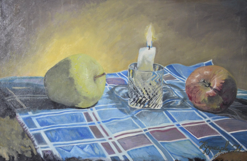 Kuznetsov.N. Apple and candle