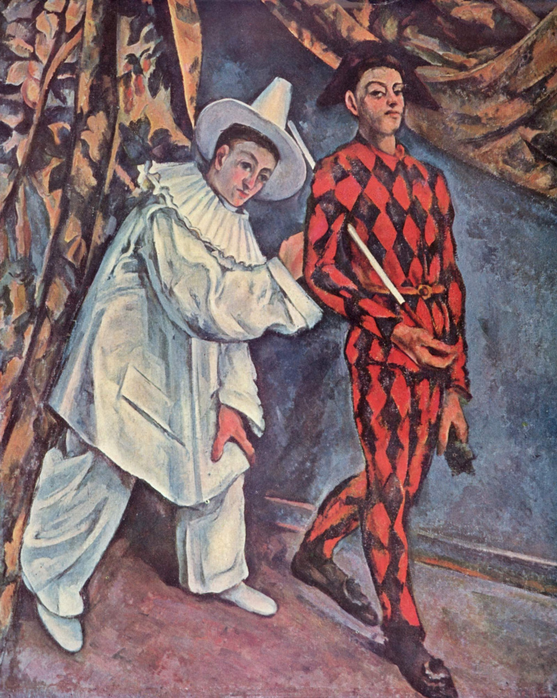 Поль Сезанн. Пьеро и Арлекин