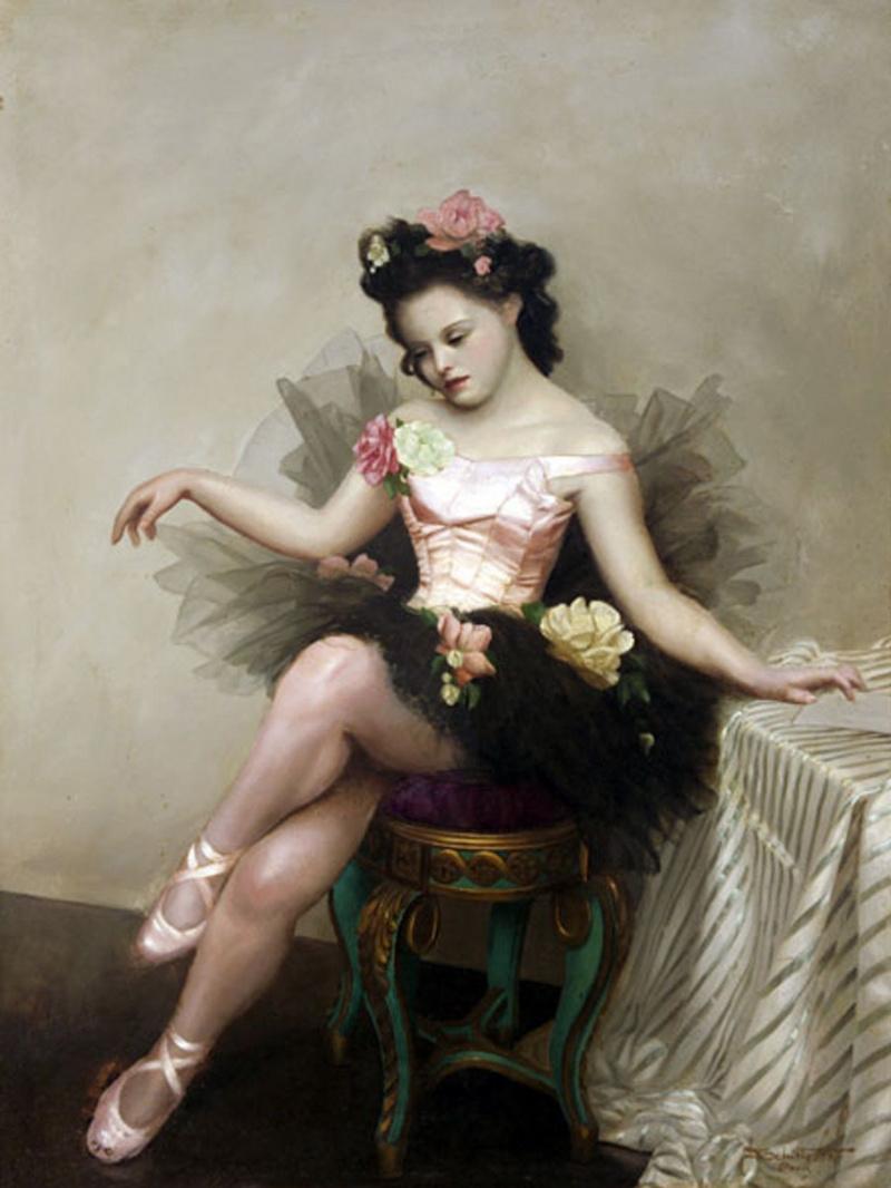 Закрывающиеся, старинные балерины открытки