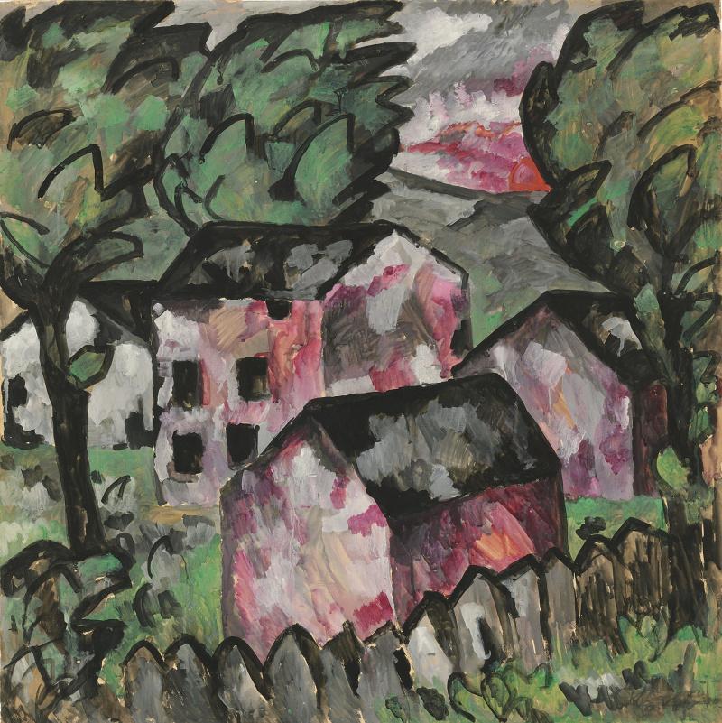 Казимир Северинович Малевич. Пейзаж с красными домами