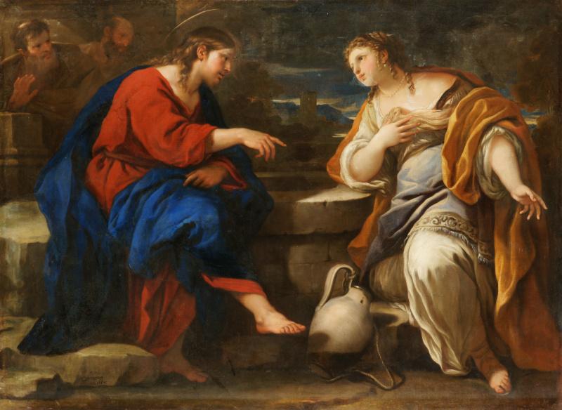 Лука Джордано. Христос и самаритянка