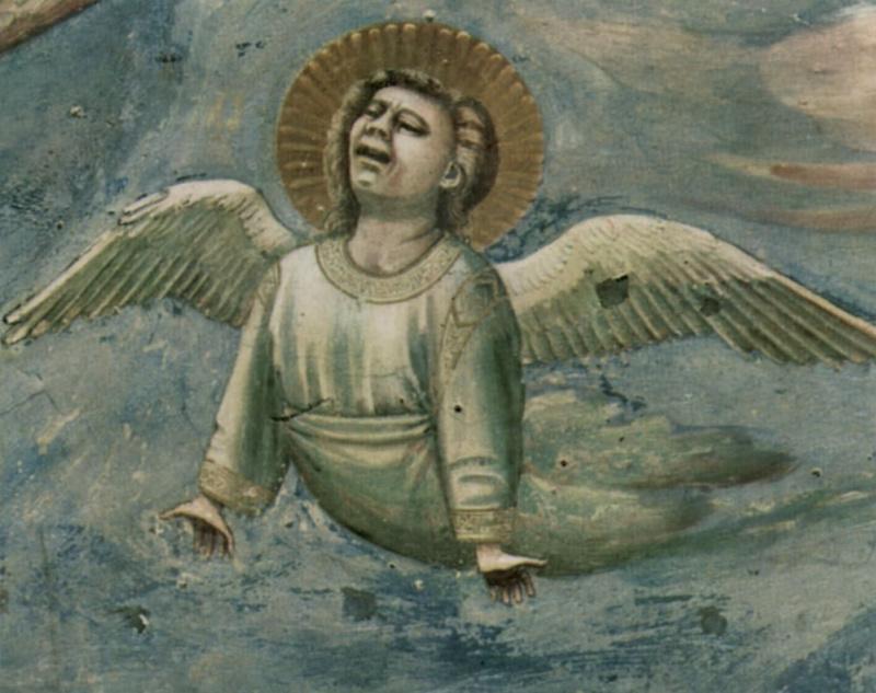 Джотто ди Бондоне. Оплакивание Христа. Сцены из жизни Христа. Фрагмент