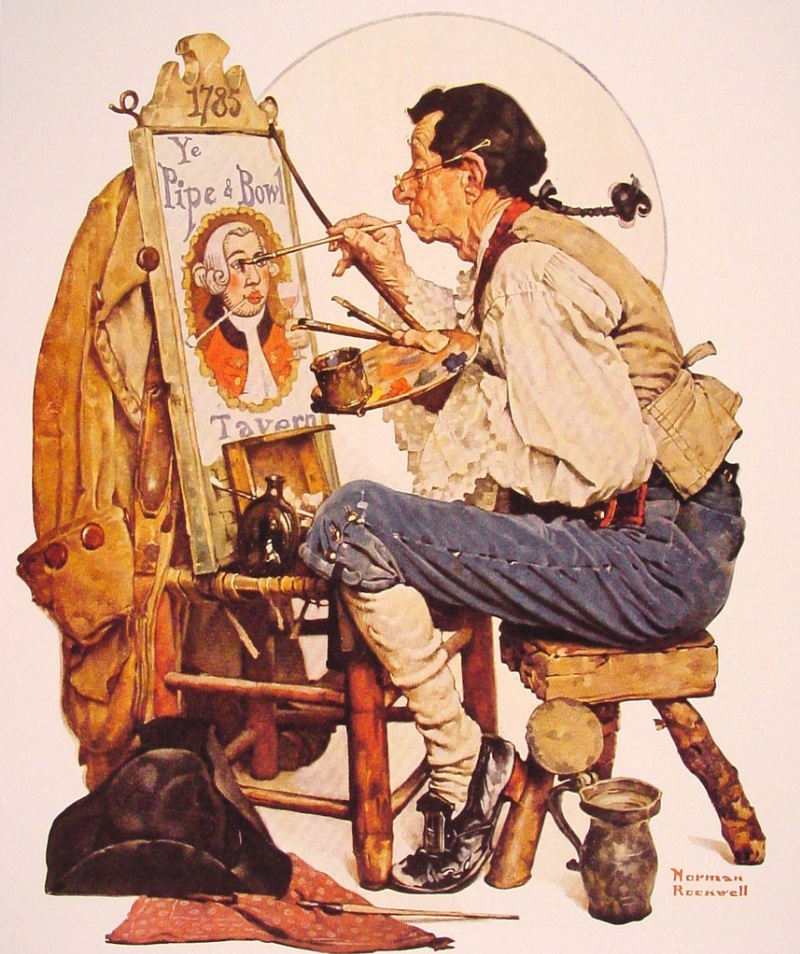 a biography of norman percevel rockwell an american artist