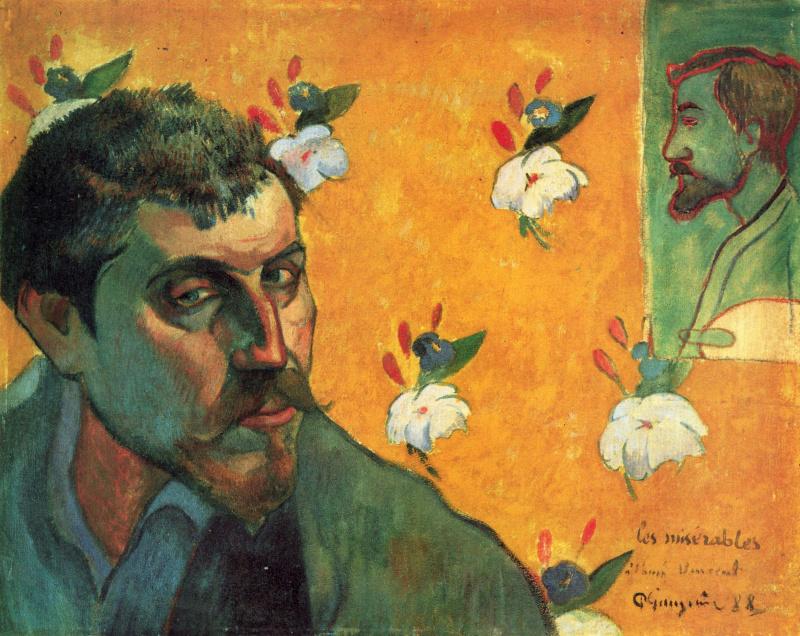 Поль Гоген. Автопортрет, посвященный Винсенту Ван Гогу (Отверженные)