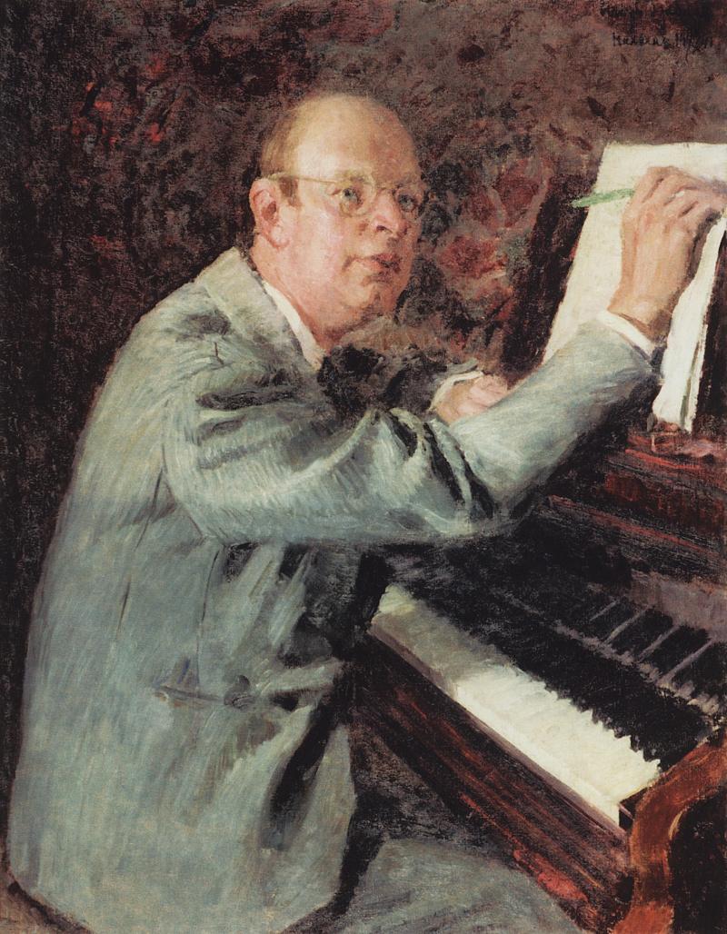 Портрет композитора С.С. Прокофьева за работой над оперой
