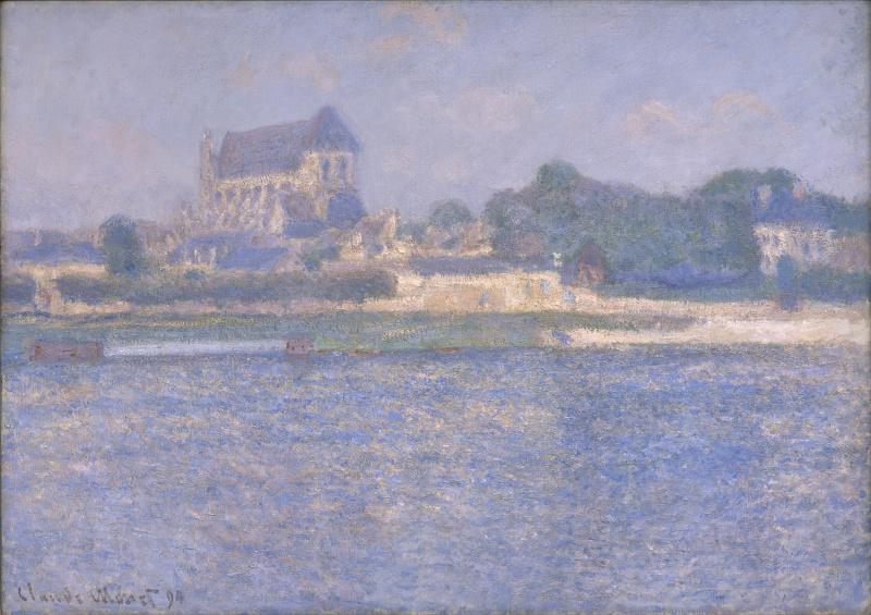 Claude Monet. Vernon, the sun
