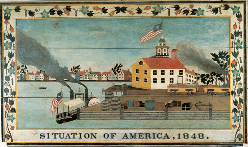 Unknown artist. America's position