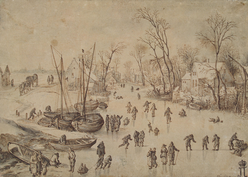 Jan Bruegel The Elder. Winter landscape.