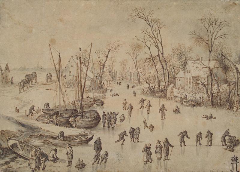 Jan Bruegel The Elder. Winter landscape.
