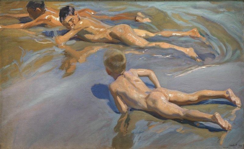 Joaquin Sorolla (Soroya). Boys on the beach