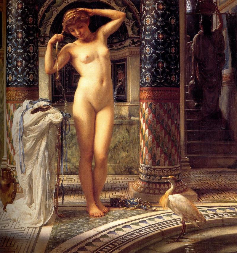 Nude prints bath