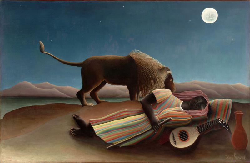 Henri Rousseau. The sleeping Gypsy