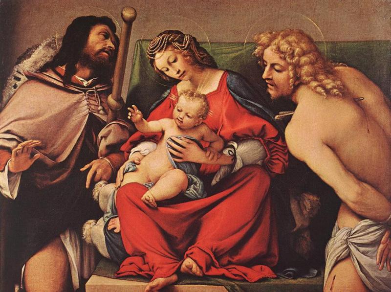 Лоренцо Лотто. Мадонна