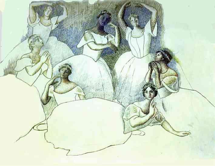 Пабло Пикассо. Группа танцовщиц