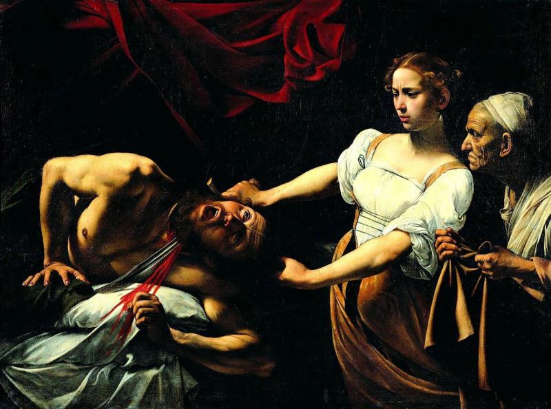 Микеланджело Меризи де Караваджо. Юдифь, отсекающая голову Олоферна