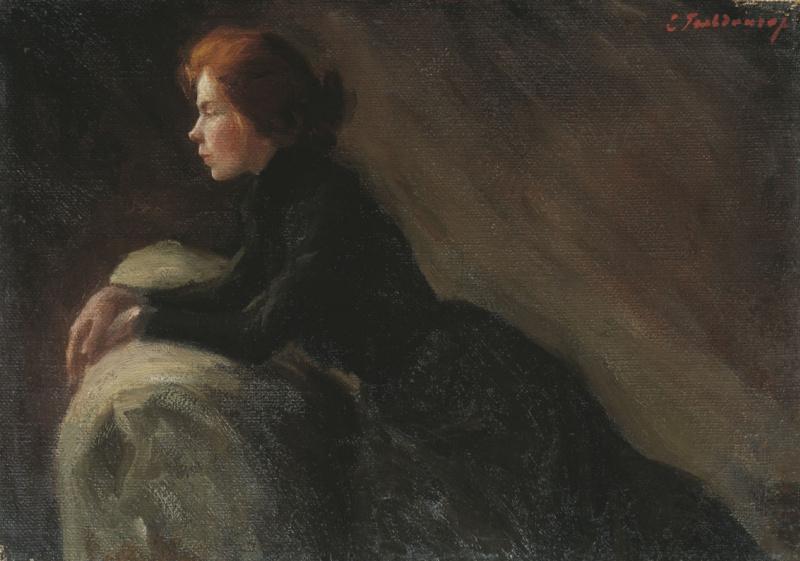 Екатерина Василевна Гольдингер. В раздумье. 1907