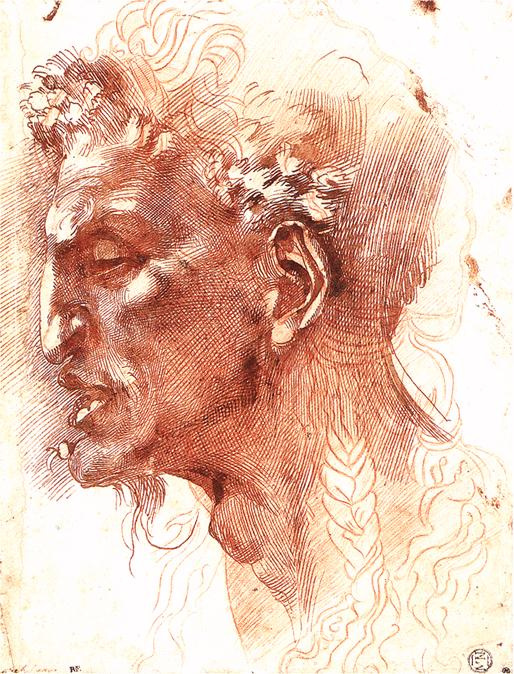 Michelangelo Buonarroti. Head of a Satyr