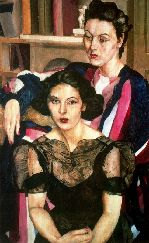 John Roddem Spencer-Stanhope. Two women