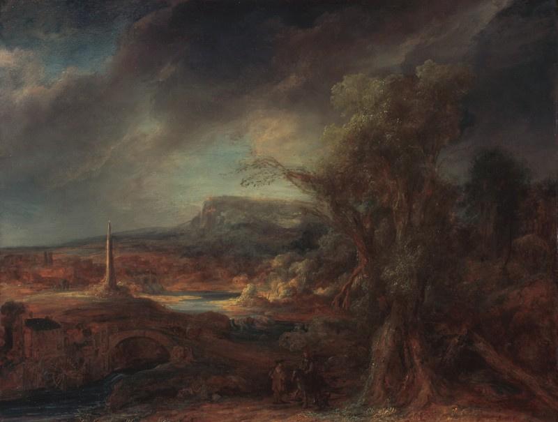 Говерт Теунисз Флинк. Пейзаж с обелиском