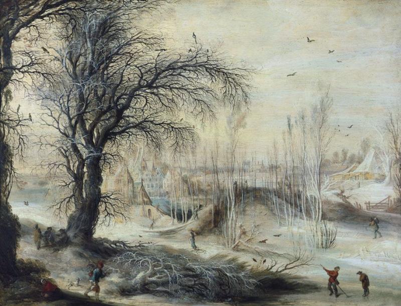 Geisbrecht Leitens. Winter landscape