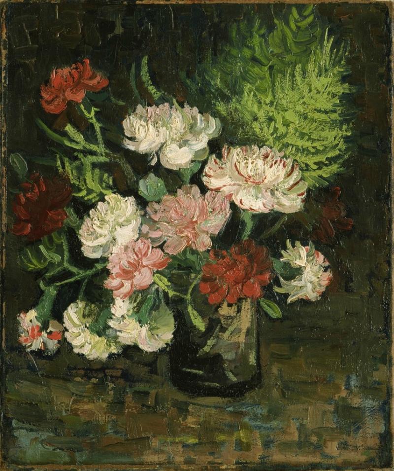 Цветы в вазе ван гог