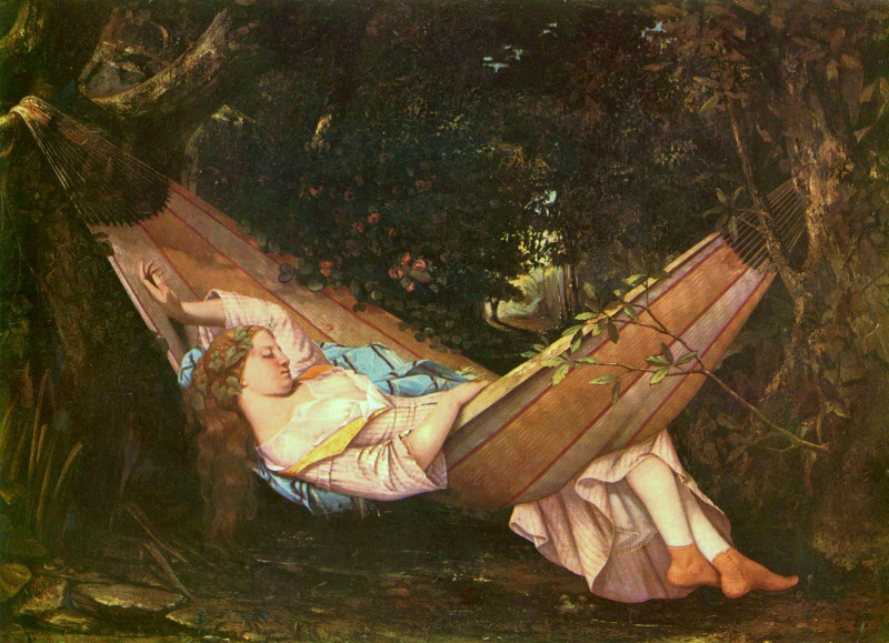 Gustave Courbet. Hammock