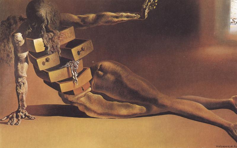 Salvador Dali. Humanoid chest