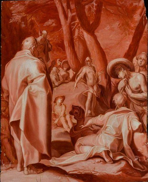 Абрахам Блумарт. Проповедь Иоанна Крестителя