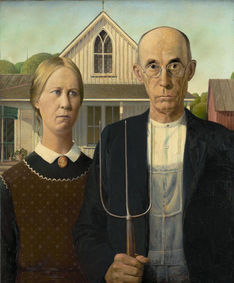 Грант Вуд. Американская готика