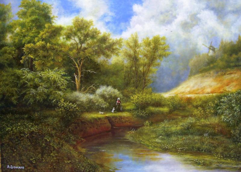 Андрей Доманин. Пейзаж с собачками